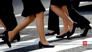 VIDEO: Perempuan di Jepang Boikot Sepatu Hak Tinggi
