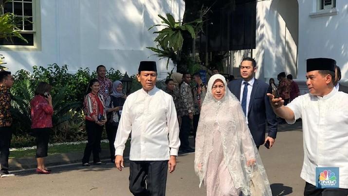 Pagi ini, Presiden Joko Widodo melaksanakan halalbihalal atau open house dengan Wakil Presiden Jusuf Kalla.