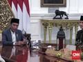 AHY dan Ibas Berlebaran dengan Jokowi di Istana Merdeka