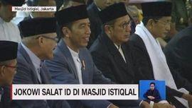 VIDEO: Jokowi Salat Id di Masjid Istiqlal