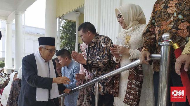 Ma'ruf Amin Lebaran dengan Jokowi-JK di Istana