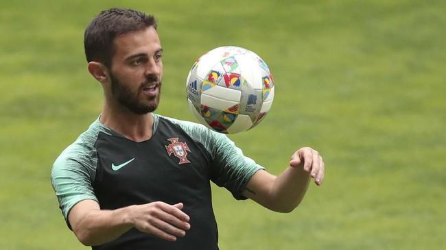 Selain sosok Cristiano Ronaldo, timnas Portugal memiliki Bernardo Silva yang diandalkan sebagai kreator serangan. (AP Photo/Luis Vieira)