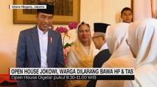 VIDEO: Open House Jokowi, Warga Dilarang Bawa HP & Tas