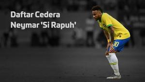 INFOGRAFIS: Daftar Cedera Neymar 'Si Rapuh'