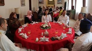 Dubes RI Perkenalkan Tradisi Mudik ke Tamu Lebaran di Korut