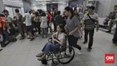 Tapi ada yang berbeda dari pengoperasian MRT Jakarta selama libur Lebaran, Rabu-Minggu (5-9 Juni 2019). MRT Jakarta memberi kesempatan bagi warga Jakarta yang baru pertama kali menjajal MRT. Sebuah program 'piknik' bersama MRT pun disiapkan. (CNN Indonesia/Adhi Wicaksono)