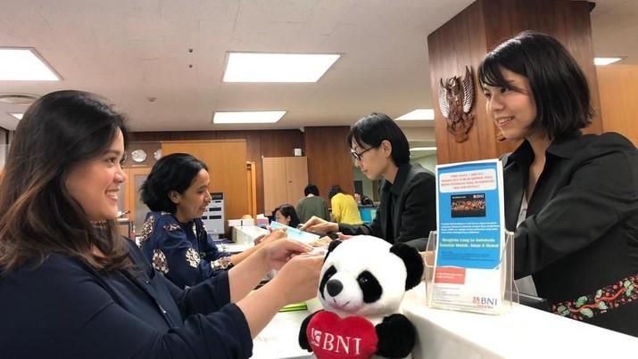 BNI kantor perwakilan Osaka, Jepang mendapatkan lisensi baru untuk menjadi agen dalam pembukaan rekening tabungan BNI.