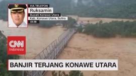 VIDEO: Banjir Menerjang, Jalur Trans Sulawesi Terputus