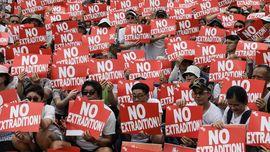 FOTO: Derap Protes Warga Hong Kong Menolak RUU Ekstradisi