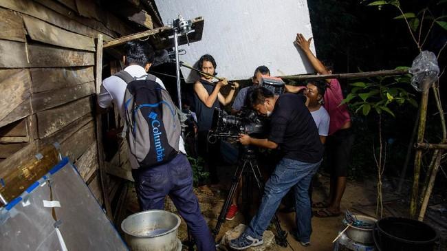 Pelaku industri perfilman Myanmar kini berharap para sineas dan aktor dunia mau membuat film di negara itu supaya terjadi pertukaran ilmu. (Photo by Sai Aung MAIN / AFP)