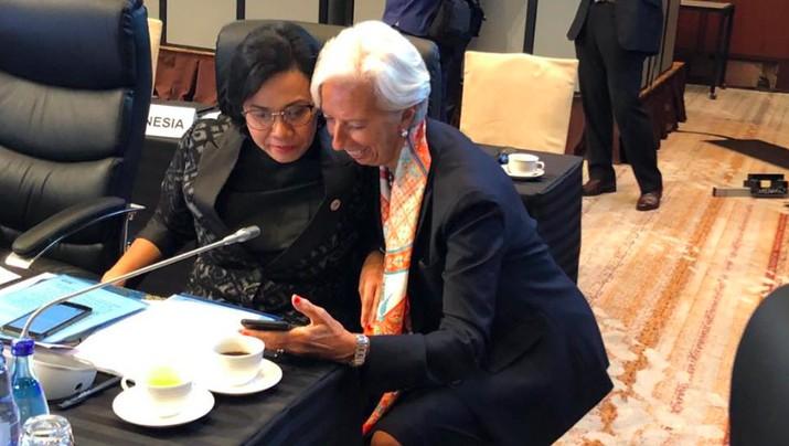 Mengintip Momen Hangat Sri Mulyani & Bos IMF di Pertemuan G20