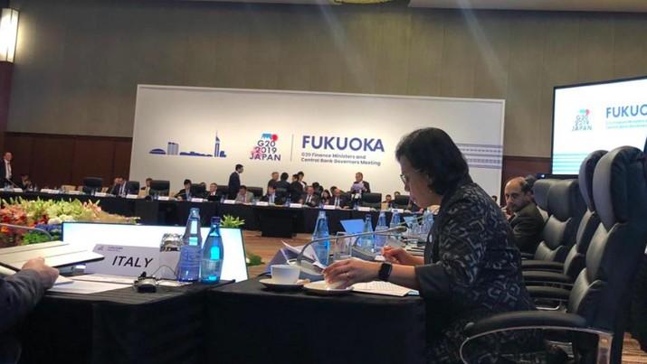 Menteri Keuangan Sri Mulyani Indrawati melakukan serangkaian kegiatan di pertemuan tingkat menteri G20.