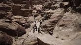 Di masa lampau, Petra merupakan ibu kota dari kekaisaran Nabatean, yang pada masa 400 SM hingga tahun 106 setelah masehi menjadi salah satu pusat perdagangan dunia. (Photo by THOMAS COEX / AFP)