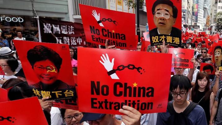 Protes RUU Ekstradisi, Warga Gelar Demo Terbesar di Hong Kong