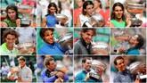 Ekspresi Rafael Nadal saat memenangkan gelar grand slam Prancis Terbuka di 12 edisi sepanjang kariernya. Nadal menegaskan status raja tanah liat yang sudah melekat dengannya selama ini. (REUTERS/Staff/Files TPX IMAGES OF THE DAY)