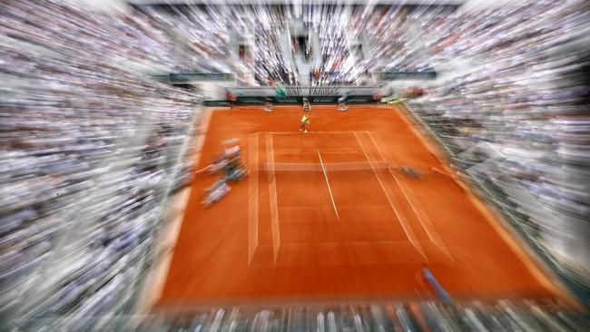Rafael Nadal kembali tampil di final Prancis Terbuka. Lawannya kali ini adalah Dominic Thiem dari Austria. (REUTERS/Kai Pfaffenbach)