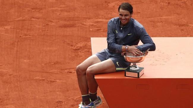Rafael Nadal tidak pernah kalah di final Prancis Terbuka. Belum ada petenis yang mampu memenangkan 12 gelar di sebuah turnamen grand slam. (REUTERS/Benoit Tessier)