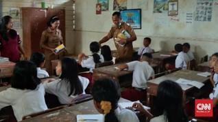 Pasca-letusan Sinabung, Murid SD di Karo Kenakan Masker
