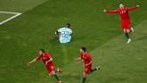 Gol yang ditunggu akhirnya lahir lewat kaki Goncalo Guedes di menit ke-60. (REUTERS/Susana Vera)