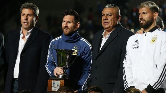 Messi Raih 'Trofi' Pertama bersama Timnas Argentina