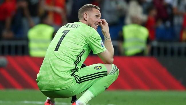 Swedia kini tertinggal lima poin dari Spanyol. Posisi Swedia di peringkat kedua juga mendapat ancaman dari Rumania yang kini mengoleksi nilai yang sama. (REUTERS/Sergio Perez)