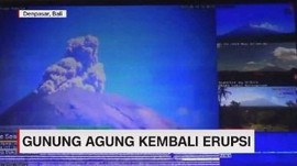 VIDEO: Gunung Agung Erupsi