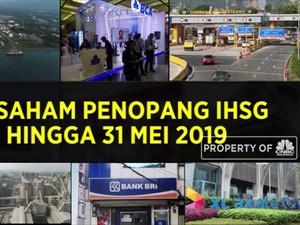 10 Saham Penopang IHSG Hingga 31 Mei 2019