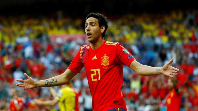 Dani Parejo sempat mencetak gol namun gol tersebut dianulir oleh wasit. (REUTERS/Juan Medina)