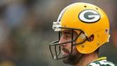 7. Posisi ketujuh ditempati atlet American Football lainnya, yaitu Aaron Rodgers dengan catatan US$89,3 juta [Rp1,271 triliun]. (Dylan Buell/Getty Images/AFP)