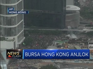 Bursa Hong Kong Anjlok Akibat Aksi Demonstrasi