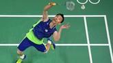 Lee Chong Wei kembali berusaha di Olimpiade 2016. Ia kembali masuk final namun kali ini kalah dari Chen Long. (Antonin THUILLIER / AFP)
