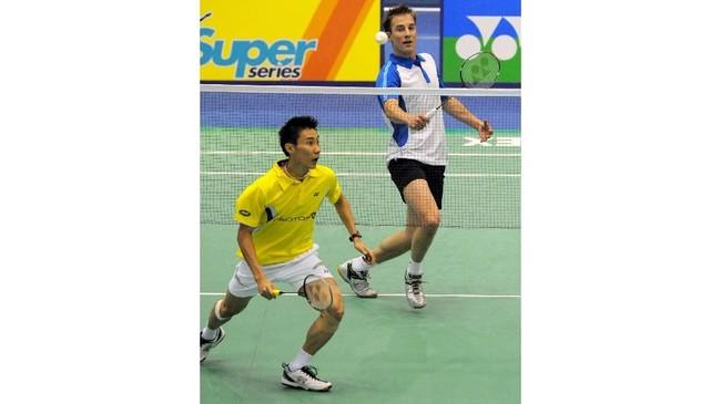 Selain Lin Dan, Peter Gade juga merupakan rival Lee Chong Wei dalam perjalanan kariernya.(PARK JI-HWAN/AFP)