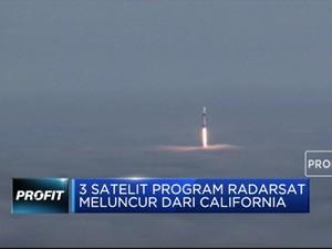 3 Satelit Program Radarsat Meluncur dari California