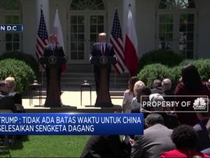 Trump: Tak Ada Tenggat Waktu Selesaikan Perang Dagang