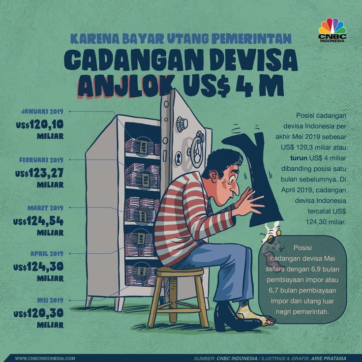 Kondisi Terkini Cadangan Devisa Indonesia yang Anjlok
