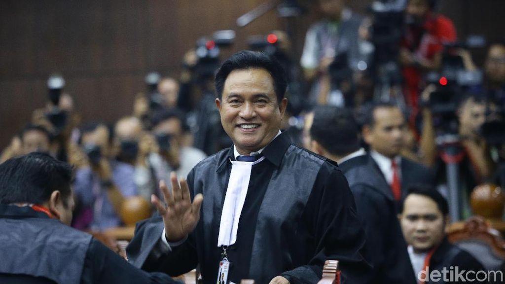 Yusril: Saksi Prabowo Gagal Buktikan Tuduhan Kecurangan Pemilu TSM