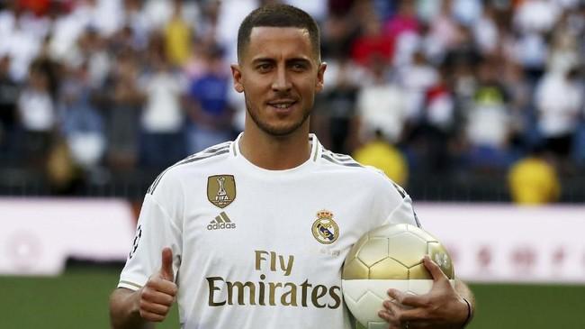 Eden Hazard dinilai menjadi salah satu pembelian Real Madrid berstatus bintang. Namun, ia menegaskan statusnya bukan Galacticos atau salah satu bintang. (REUTERS/Sergio Perez)