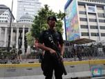 FOTO: Jelang Sidang Perdana Pagi Ini, Gedung MK Dijaga Ketat