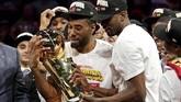Kawhi Leonard jadi bintang utama di balik keberhasilan Toronto Raptors mencetak sejarah dengan meraih gelar NBA pertama sepanjang sejarah klub. Mantan pemain San Antonio Spurs itu juga dinobatkan sebagai Most Valuable Player di final NBA 2019. (Kyle Terada-USA TODAY Sports via Reuters)
