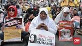 Mahkamah Konstitusi sendiri telah menegaskan tidak akan tunduk pada tekanan dari pihak mana pun dalam memutus sengketa Pilpres yang melibatkan Prabowo-Sandiaga, KPU, dan Jokowi-Ma'ruf Amin. (CNN Indonesia/Andry Novelino)