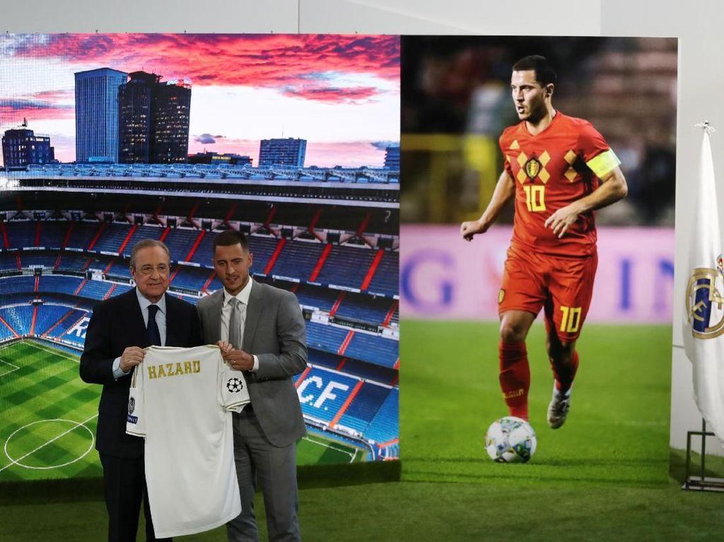 Hazard akan diandalkan Madrid untuk bangkit setelah musim 2018/2019 yang berjalan sulit. (Foto: Sergio Perez/REUTERS)