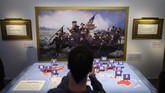 Museum ini dibuka untuk merayakan ulang tahun Trump ke-73 pada Jumat (14/6).(Photo by Andrew CABALLERO-REYNOLDS / AFP)