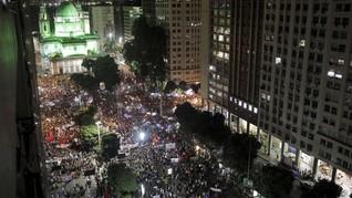 Brasil 'Lumpuh' oleh Demo Saat Pembukaan Copa Amerika