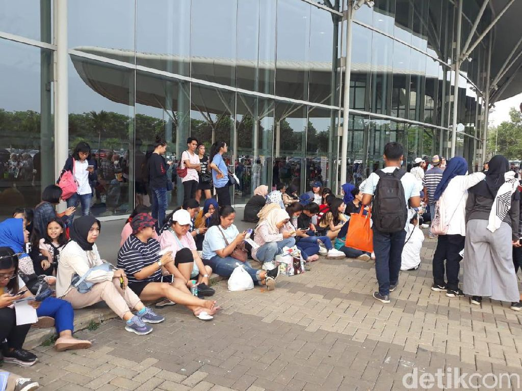 Konser Super Junior digelar hari ini di ICE BSD, Tangerang. Foto: (Febrina Arifin/detikHOT)