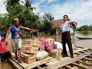 Korban Banjir di Konawe Dapat Bantuan