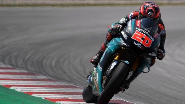 FOTO: Quartararo vs Marquez di Kualifikasi MotoGP Catalunya