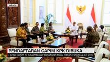 VIDEO: Pendaftaran Capim KPK Resmi Dibuka