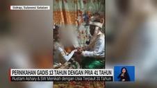 VIDEO: Pernikahan Gadis 13 Tahun dengan Pria 41 Tahun