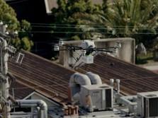 Canggihnya Pesaing Grab & Gojek Ini, Kirim Makanan Pake Drone