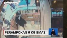VIDEO: Terekam CCTV, Aksi Perampokan 6 Kg Emas